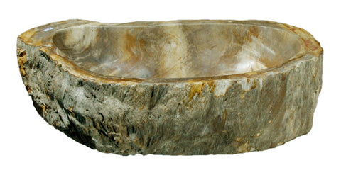 "Bathroom Vessel Sink, 21.5"" Petrified Wood, Allstone Group, PEWD-#053 - Showroom Sinks"