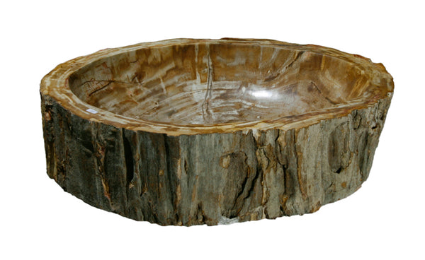 "Bathroom Vessel Sink, 22"" Petrified Wood, Allstone Group, PEWD-#056-B - Showroom Sinks"