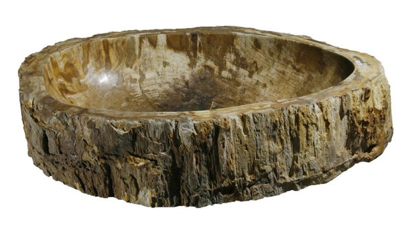 "Bathroom Vessel Sink, 27"" Petrified Wood, Allstone Group, PEWD-#061 - Showroom Sinks"