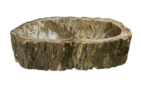 "Bathroom Vessel Sink, 21"" Petrified Wood, Allstone Group, PEWD-#040-C - Showroom Sinks"