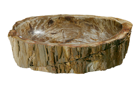 "Bathroom Vessel Sink, 24"" Petrified Wood, Allstone Group, PEWD-#056-E - Showroom Sinks"