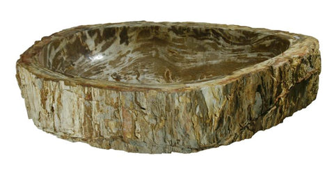 "Bathroom Vessel Sink, 29"" Petrified Wood, Allstone Group, PEWD-#065 - Showroom Sinks"