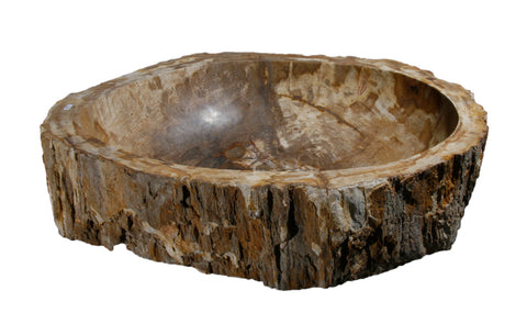 "Bathroom Vessel Sink, 24"" Petrified Wood, Allstone Group, PEWD-#066 - Showroom Sinks"