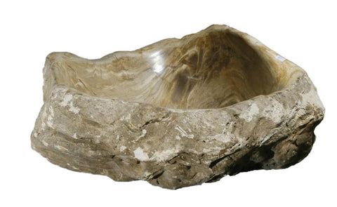"Bathroom Vessel Sink, 18.5"" Petrified Wood, Allstone Group, PEWD-#067 - Showroom Sinks"