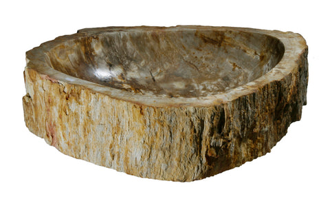 "Bathroom Vessel Sink, 22.5"" Petrified Wood, Allstone Group, PEWD-#072 - Showroom Sinks"