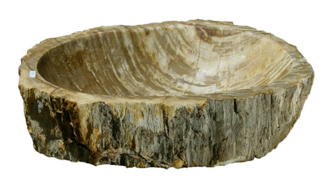 "Bathroom Vessel Sink, 16.5"" Petrified Wood, Allstone Group, PEWD-#079 - Showroom Sinks"