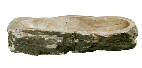 "Bathroom Vessel Sink, 25.5"" Petrified Wood, Allstone Group, PEWD-#080 - Showroom Sinks"