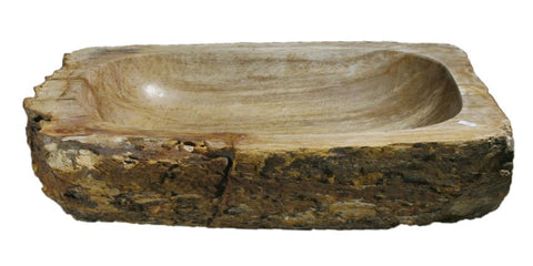 "Bathroom Vessel Sink, 21"" Petrified Wood, Allstone Group, PEWD-#083 - Showroom Sinks"