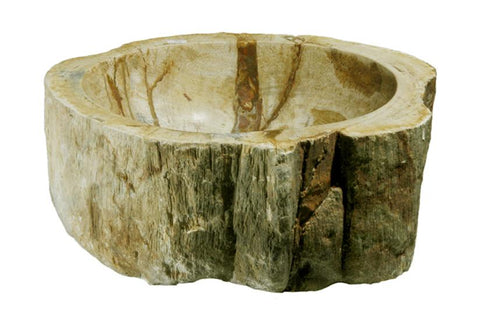 "Bathroom Vessel Sink, 14.5"" Petrified Wood, Allstone Group, PEWD-#086-A - Showroom Sinks"