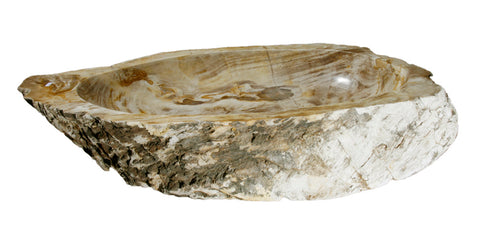 "Bathroom Vessel Sink, 34"" Petrified Wood, Allstone Group, PEWD-#097 - Showroom Sinks"