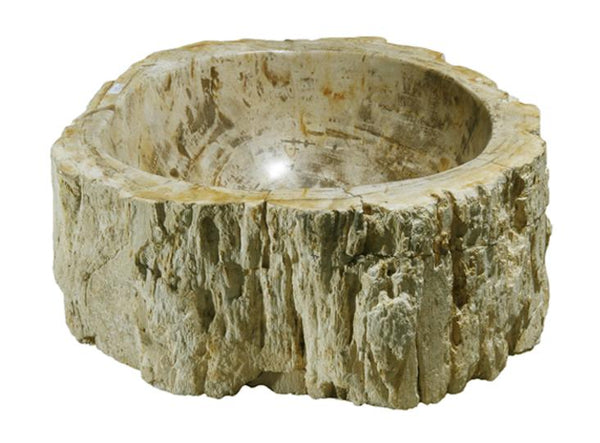 "Bathroom Vessel Sink, 13"" Petrified Wood, Allstone Group, PEWD-#110 - Showroom Sinks"