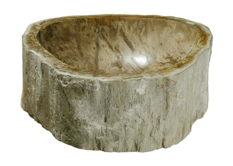 "Bathroom Vessel Sink, 14.5"" Petrified Wood, Allstone Group, PEWD-#111 - Showroom Sinks"
