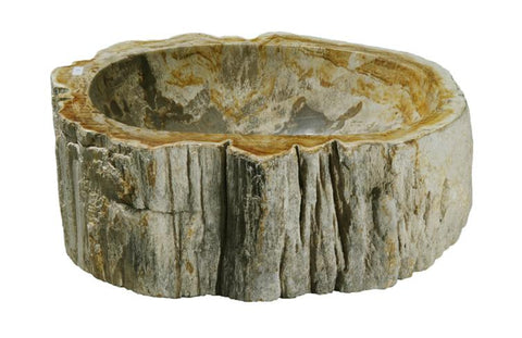 "Bathroom Vessel Sink, 14"" Petrified Wood, Allstone Group, PEWD-#114-C - Showroom Sinks"