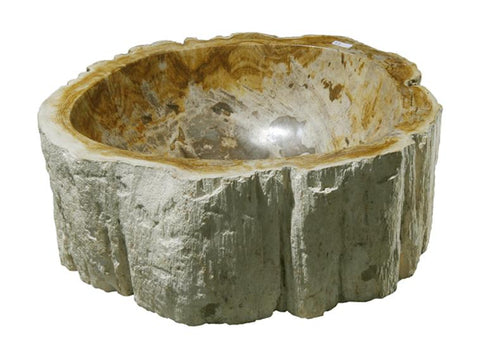 "Bathroom Vessel Sink, 13.5"" Petrified Wood, Allstone Group, PEWD-#113"