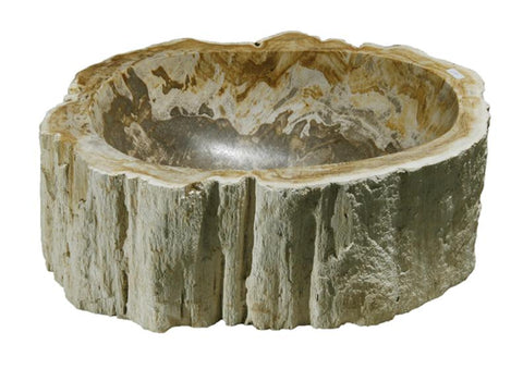 "Bathroom Vessel Sink, 14"" Petrified Wood, Allstone Group, PEWD-#114-A - Showroom Sinks"