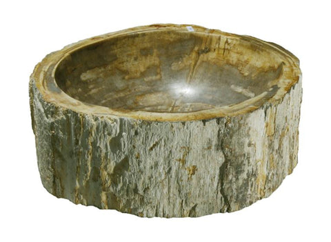 "Bathroom Vessel Sink, 14"" Petrified Wood, Allstone Group, PEWD-#116-A - Showroom Sinks"