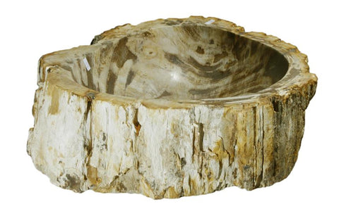 "Bathroom Vessel Sink, 15.5"" Petrified Wood, Allstone Group, PEWD-#117 - Showroom Sinks"