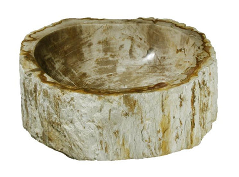 "Bathroom Vessel Sink, 16"" Petrified Wood, Allstone Group, PEWD-#118 - Showroom Sinks"