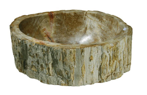 "Bathroom Vessel Sink, 16.5"" Petrified Wood, Allstone Group, PEWD-#121 - Showroom Sinks"