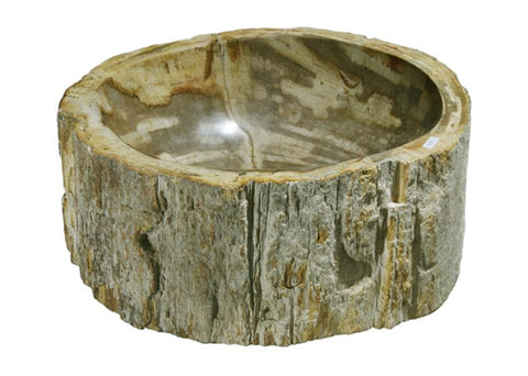 "Bathroom Vessel Sink, 14"" Petrified Wood, Allstone Group, PEWD-#116-B - Showroom Sinks"