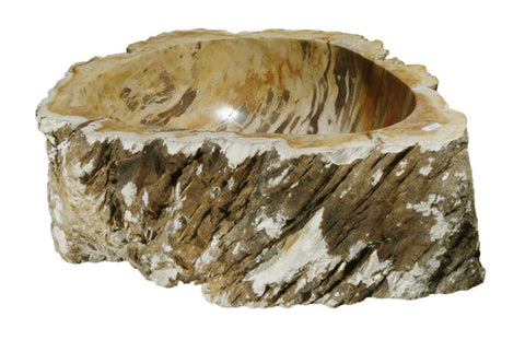 "Bathroom Vessel Sink, 16"" Petrified Wood, Allstone Group, PEWD-#128 - Showroom Sinks"