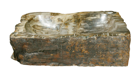 "Bathroom Vessel Sink, 23"" Petrified Wood, Allstone Group, PEWD-#131 - Showroom Sinks"
