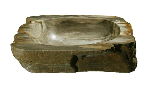 "Bathroom Vessel Sink, 20.5"" Petrified Wood, Allstone Group, PEWD-#132 - Showroom Sinks"
