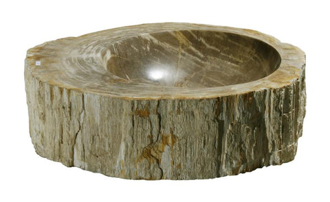 "Bathroom Vessel Sink, 20.5"" Petrified Wood, Allstone Group, PEWD-#139-A - Showroom Sinks"