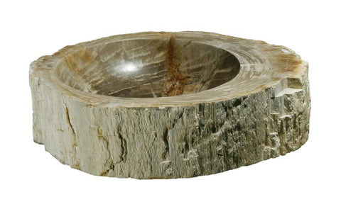 "Bathroom Vessel Sink, 20.5"" Petrified Wood, Allstone Group, PEWD-#139-B - Showroom Sinks"