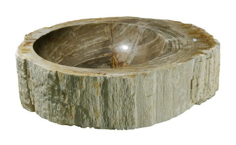 "Bathroom Vessel Sink, 20"" Petrified Wood, Allstone Group, PEWD-#139-C - Showroom Sinks"