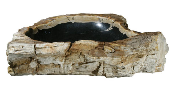 "Bathroom Vessel Sink, 30"" Petrified Wood, Allstone Group, PEWD-#146 - Showroom Sinks"