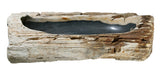 "Bathroom Vessel Sink, 32.5"" Petrified Wood, Allstone Group, PEWD-#153 - Showroom Sinks"