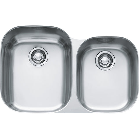 "Regatta 31-1/2"" Stainless Steel Undermount Kitchen Sink, Double Bowl, Franke, RGX160"
