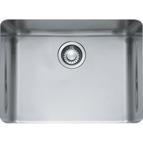 "Kubus 22-13/16"" Stainless Steel Undermount Kitchen Sink, Single Bowl, Franke, KBX11021"