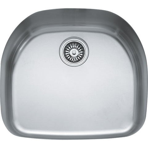 "Prestige 22-1/4"" Stainless Steel Undermount Kitchen Sink, Single Bowl, Franke, PCX1102109"