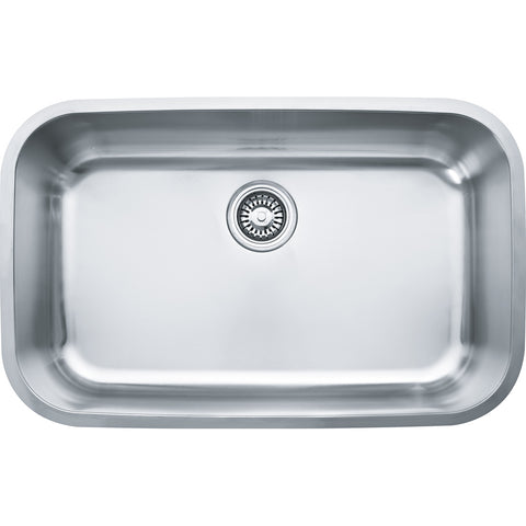 "Oceania 29-15/16"" Stainless Steel Undermount Kitchen Sink, OXX110, Franke"
