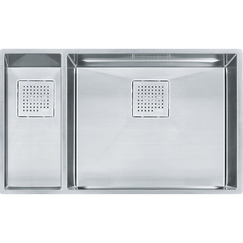 Peak 30-7/8 Stainless Steel Kitchen Sinks, Double Bowl, Undermount Sink, PKX160LH