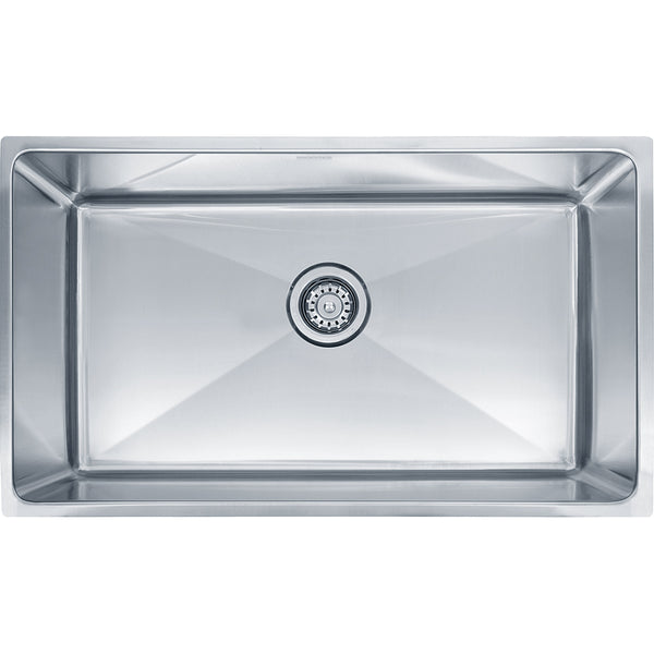 "Professional Series 31-7/16"" Stainless Steel Undermount Kitchen Sink, Single Bowl, Franke, PSX1103010"