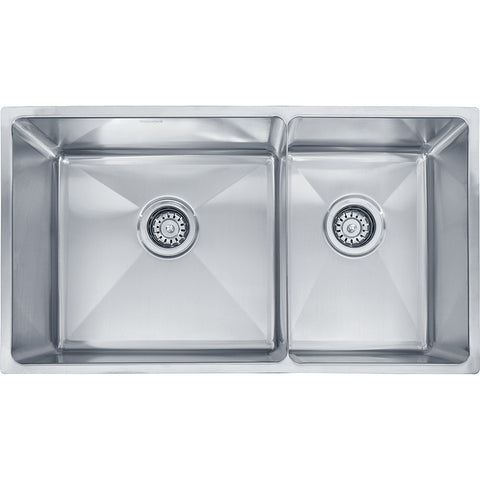 "Professional Series 31-3/8"" Stainless Steel Kitchen Sinks, Double Bowl, Undermount Sinks. PSX120309"