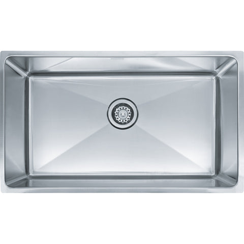 "Professional Series 31-1/2"" Stainless Steel Undermount Kitchen Sink, Single Bowl, Franke, PSX110309"