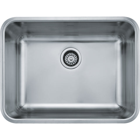 "Grande 24-3/4"" Stainless Steel Undermount Kitchen Sink, Single Bowl, Franke, GDX11023"