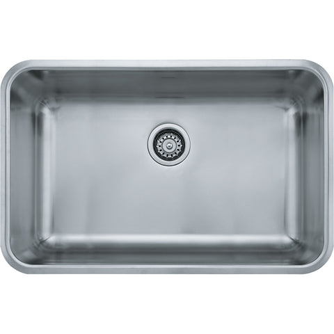 "Grande 30-1/8"" Stainless Steel Undermount Kitchen Sink, Single Bowl, Franke, GDX11028"