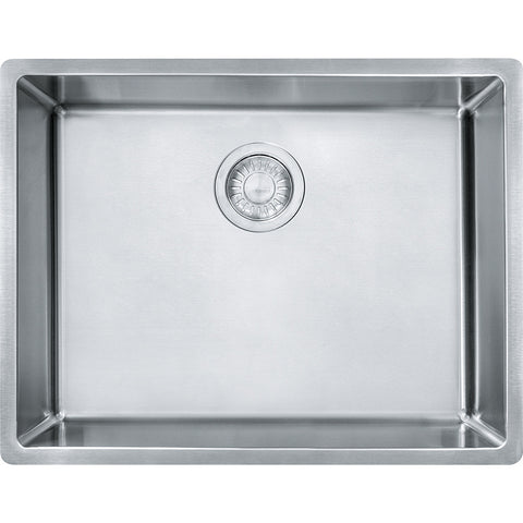 "Cube 22-3/4"" Stainless Steel Undermount Kitchen Sink, Single Bowl, Franke, CUX11021"