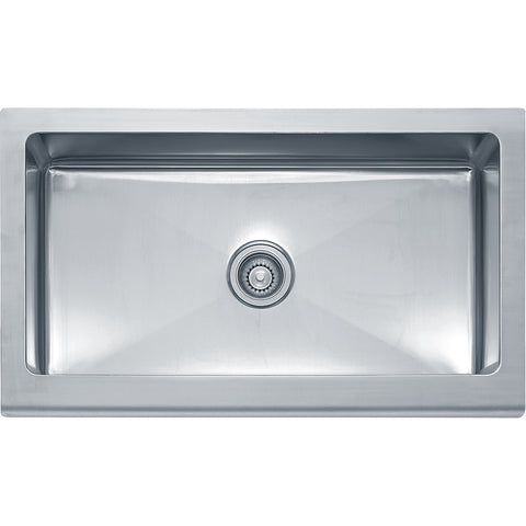 "Manor House 36"" Stainless Steel Farmhouse sink, Single Bowl, Franke, MHX710-36"