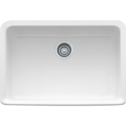 "Manor House 27-1/8"" Fireclay White Farmhouse Kitchen Sinks, MHK110-28, Franke"