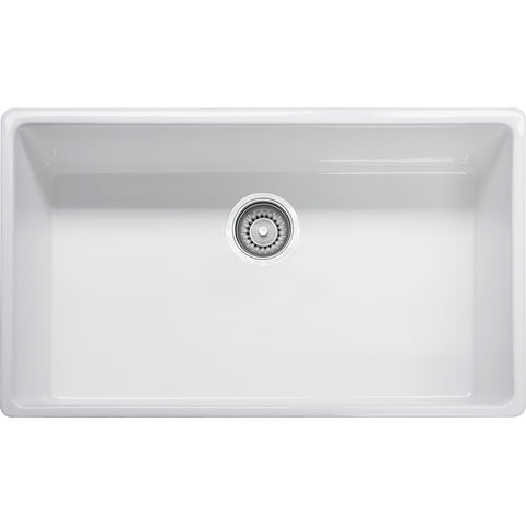 "Farm House 33"" Fireclay White Apron front Kitchen Sink, FHK710-33, Franke"