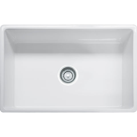 "Farm House 30-1/8"" Fireclay White Kitchen Sink, Single Bowl, Franke"