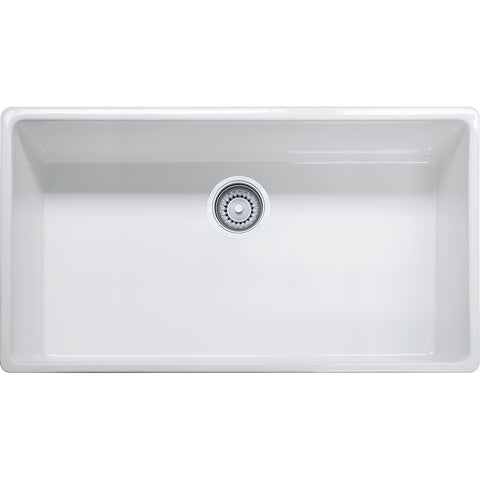 "Farm House 36"" Fireclay White Apron front Kitchen Sink, FHK710-36, Franke"