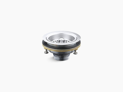 Kohler K-8799 Duostrainer, Solid Brass Construction, Manual Sink Strainer