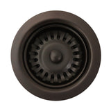 Whitehaus Extra Long  3 1/2'' Basket Strainer Fits Select Sink Models - RNW35L-ORB Oil Rubbed Bronze